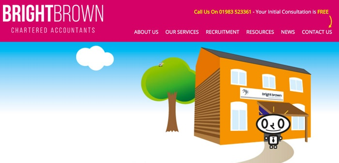 Bright Brown isle of Wight Accountants Screenshot of Website