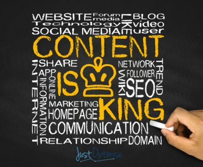 Blog Post For Is Content King with JustOptimise Content Management Services