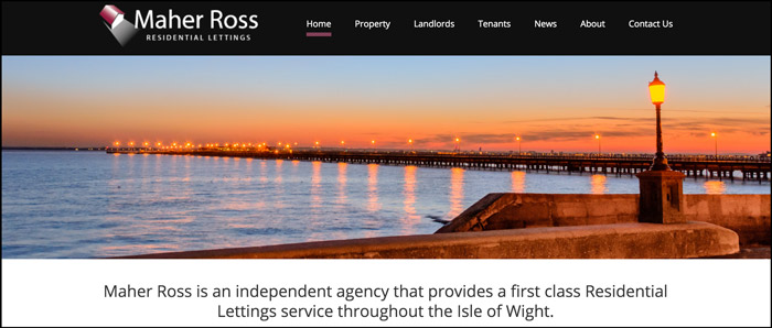 Web Development and Website Design For Maher Ross Lettings Isle of Wight