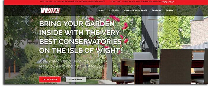 Isle of Wight Web Design for White Windows Double Glazing