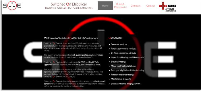 Isle of Wight Electrician Switched On Electrical Client Spotlight For Social Media Marketing